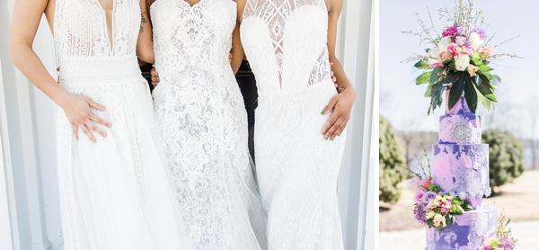 Modern lace wedding dress ideas