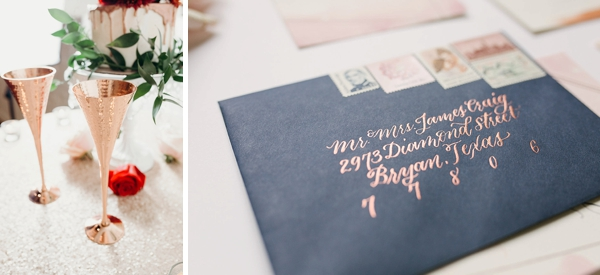Modern copper wedding ideas