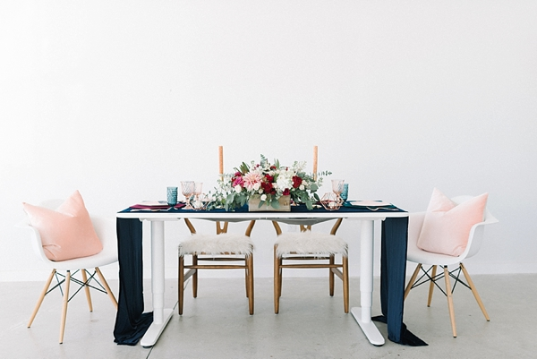 Modern and chic Thanksgiving inspired private dinner inspiration