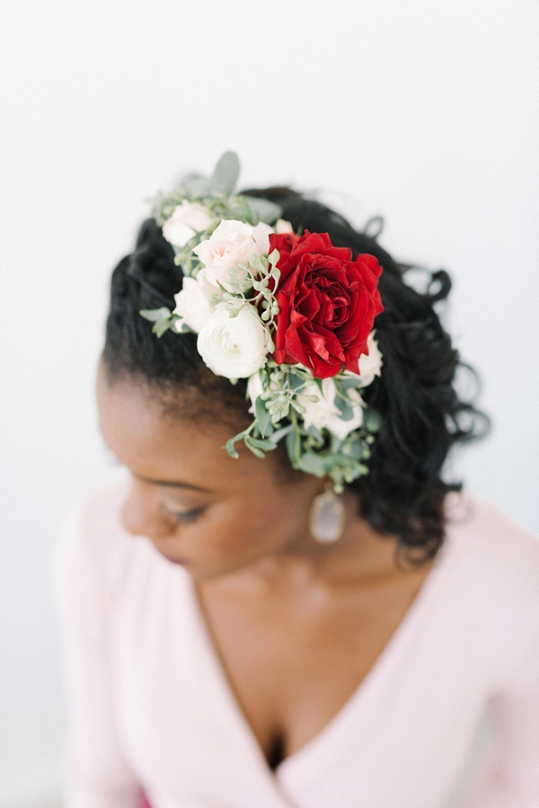 Romantic floral hair clip