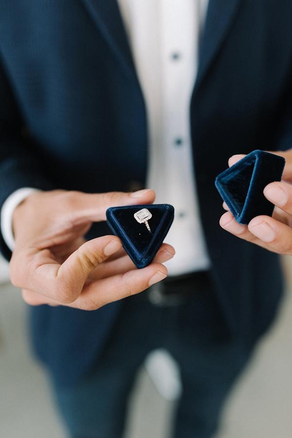 Classic modern diamond engagement ring