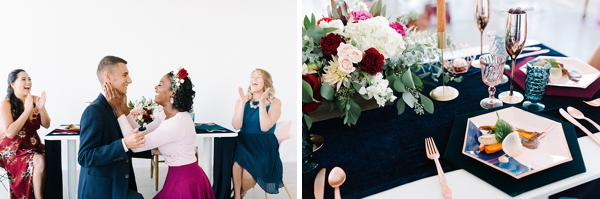 Navy blue inspired tablescape