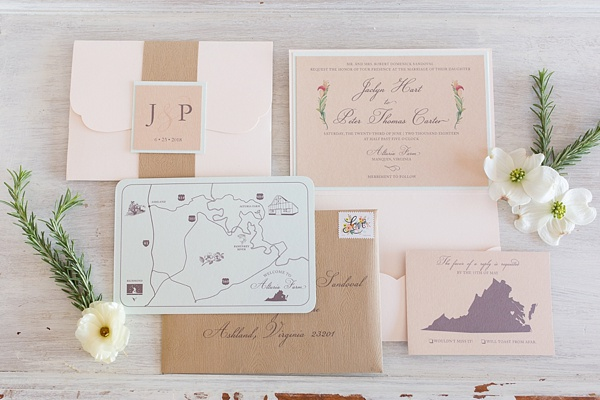 Rustic wood grain wedding stationery for a prairie themed wedding