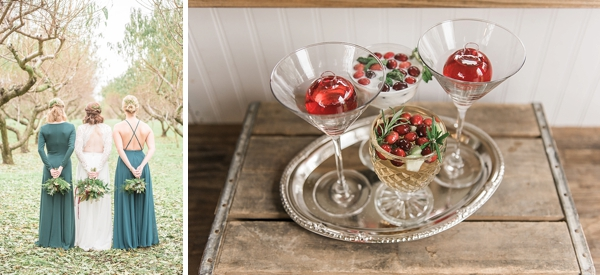 Red and green rustic Christmas wedding ideas