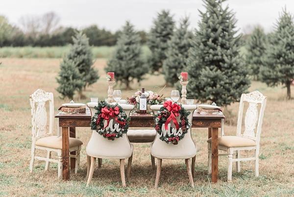 Rustic Christmas tree farm wedding ideas