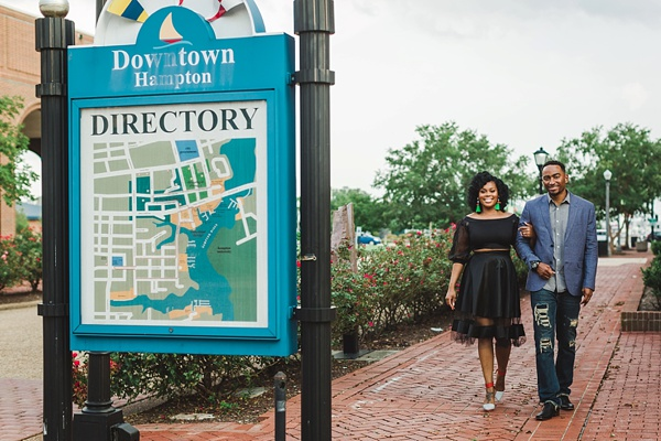 Downtown Hampton engagement session