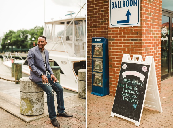 Stylish engagement session in Hampton Virginia