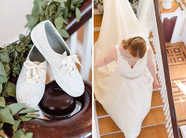 Sparkly Kate Spade Keds shoes for rustic casual bride