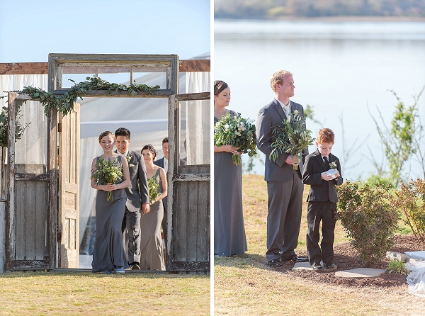 Rustic wedding ceremony setup ideas