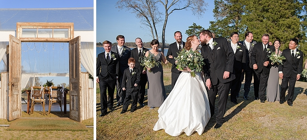 Elegant rustic wedding at Obici House in Suffolk Virginia