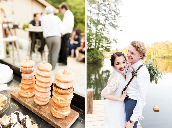 Wedding donuts for rustic dessert table