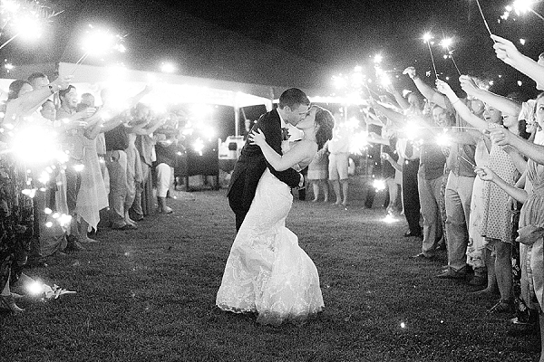 suffolk virginia military wedding sparkler exit