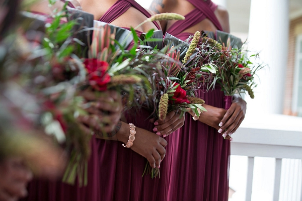 Elegant harvest inspired bridesmaid wedding bouquets