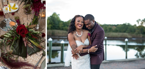 Heartfelt portraits of bride and groom in Suffolk Virginia