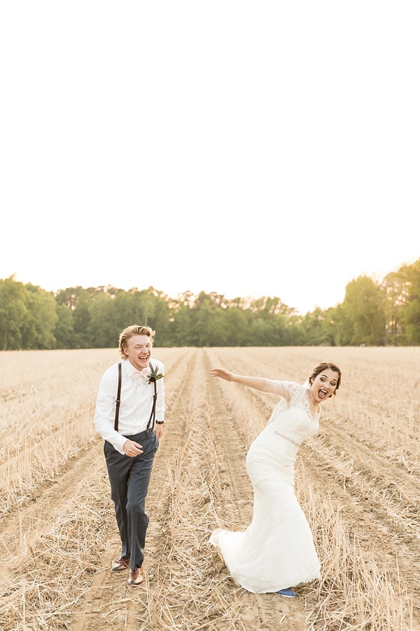 Rustic wedding in Suffolk Virginia
