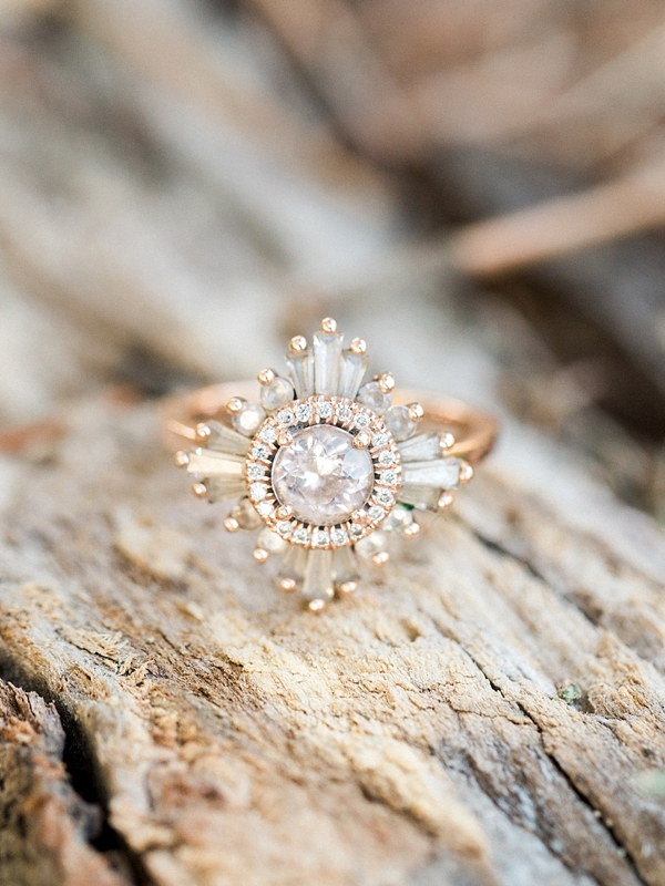 Vintage inspired engagement ring by Heidi Gibson