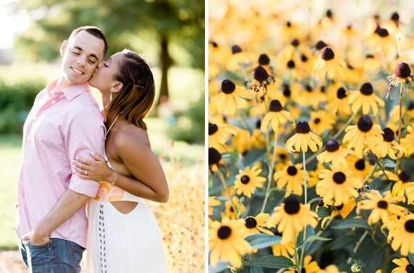 Sweet couple surrounded by daisies