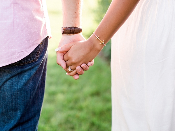 Gold anchor bracelet for military engagement session