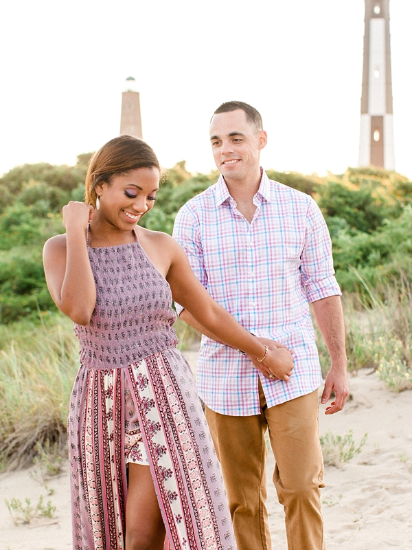 Engagement session at Fort Story Lighthouse in Virginia Beach
