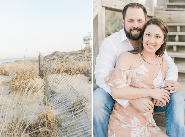 Anniversary photos at the beach in Virginia