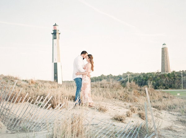 Romantic engagement session at Fort Story in Virginia Beach