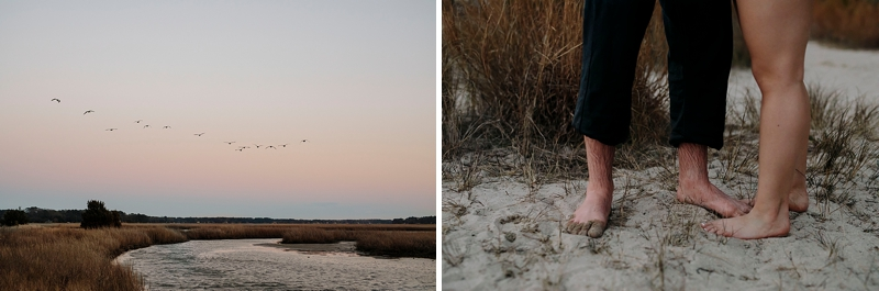 Sunset ideas for engagement sessions in Coastal Virginia for the adventurous engaged couple