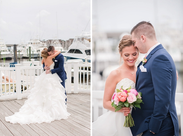 Sweet moments on the Water Table dock with the bride and groom in Virginia Beach