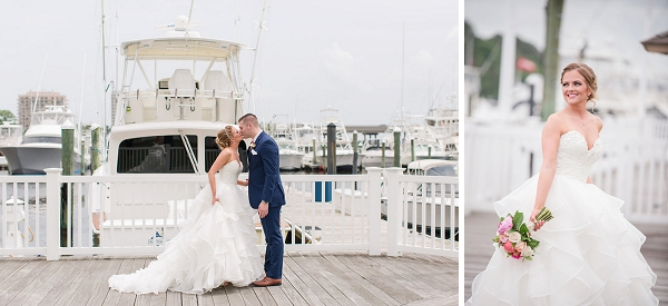 Happy bride and groom moment at Water Table in Virginia Beach