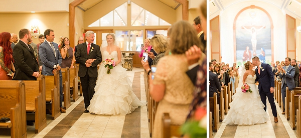 Traditional church wedding ceremony in Virginia Beach