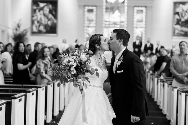 Romantic church ceremony in Virginia Beach