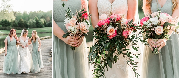 Rustic wedding bouquets for Virginia Beach wedding