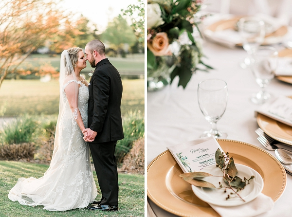 Sweet rustic wedding at Signature at West Neck in Virginia Beach