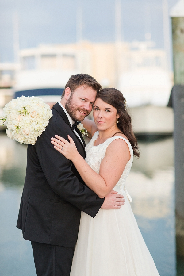 Classic bride and groom at Water Table wedding in Virginia Beach