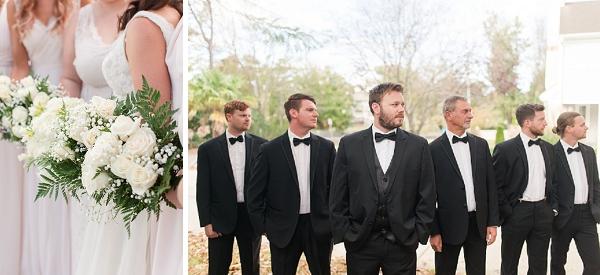 Classic black tuxedo for groomsmen