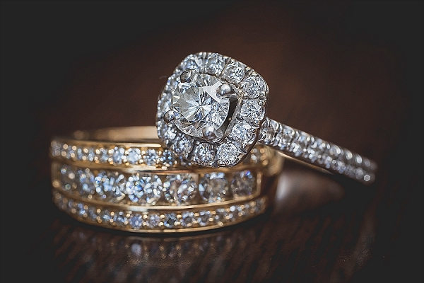 Diamond wedding rings for two brides