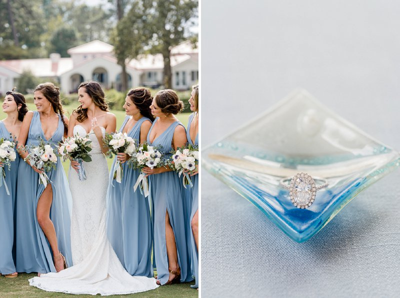 Gorgeous blue and white yacht club wedding in Virginia Beach