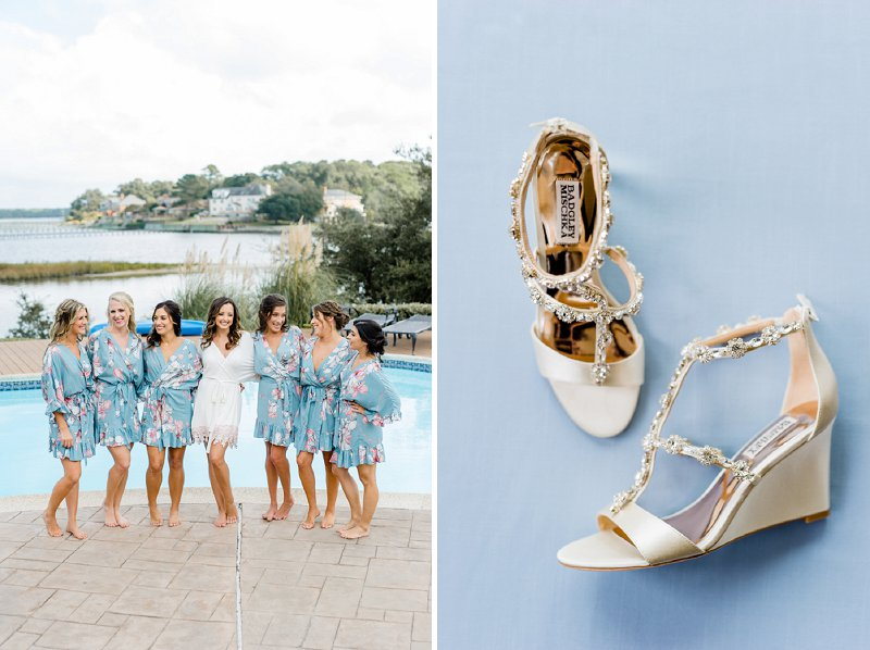 Classic blue wedding ideas for a coastal Virginia wedding in Virginia Beach