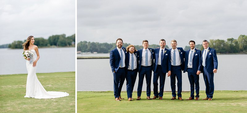 Classic blue waterside wedding at the Cavalier Golf and Yacht Club in Virginia Beach