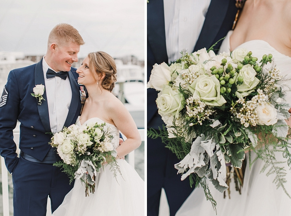Beautiful Irish couple with green and white flowers