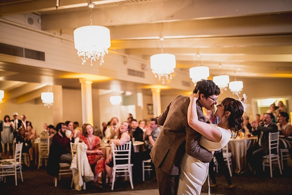 First dance for bride and groom at the Water Table in Virginia Beach