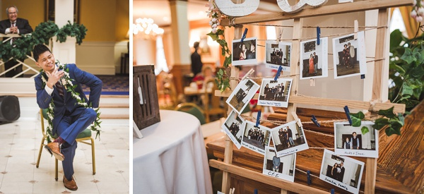 Handmade photo guestbook details