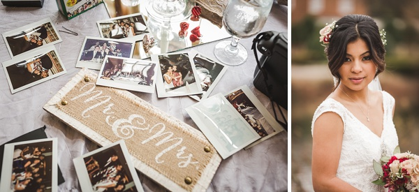 Photo wedding guestbook idea