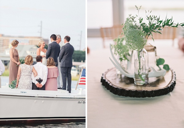 Wedding ceremony on a boat in Virginia Beach