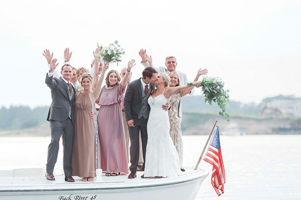 Virginia Beach wedding ceremony on a boat
