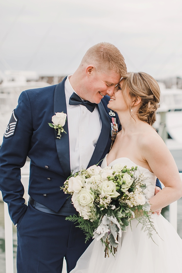 St Patricks Day wedding with military groom and bride