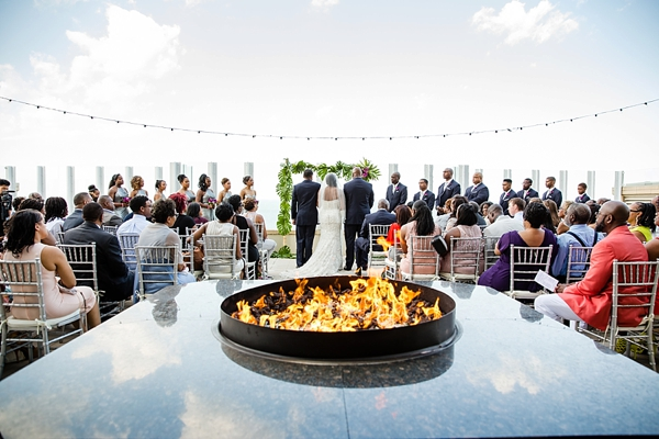 Gorgeous rooftop wedding in Virginia Beach overlooking the ocean