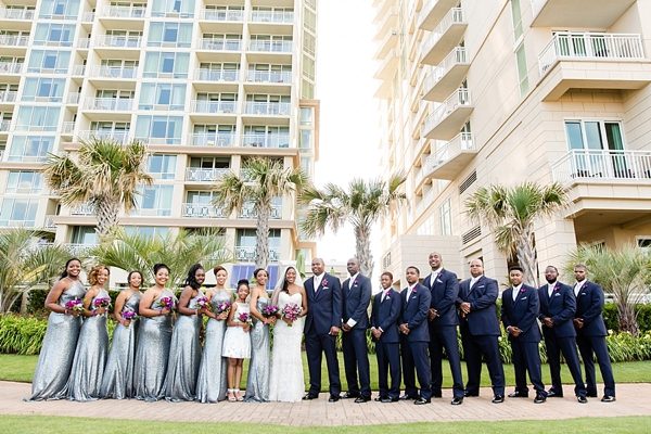 Beautiful wedding party at the Virginia Beach Oceanfront