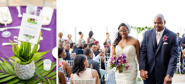 Oceanaire Resort wedding with tropical glam theme