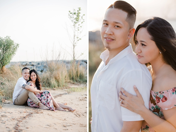 Hampton Roads engagement session on the beach in Williamsburg