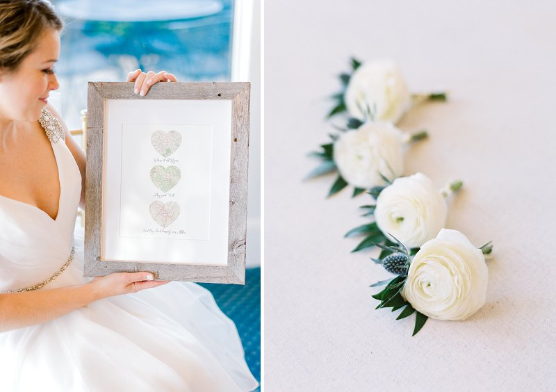 Classic country club wedding with sweet details and textural flowers